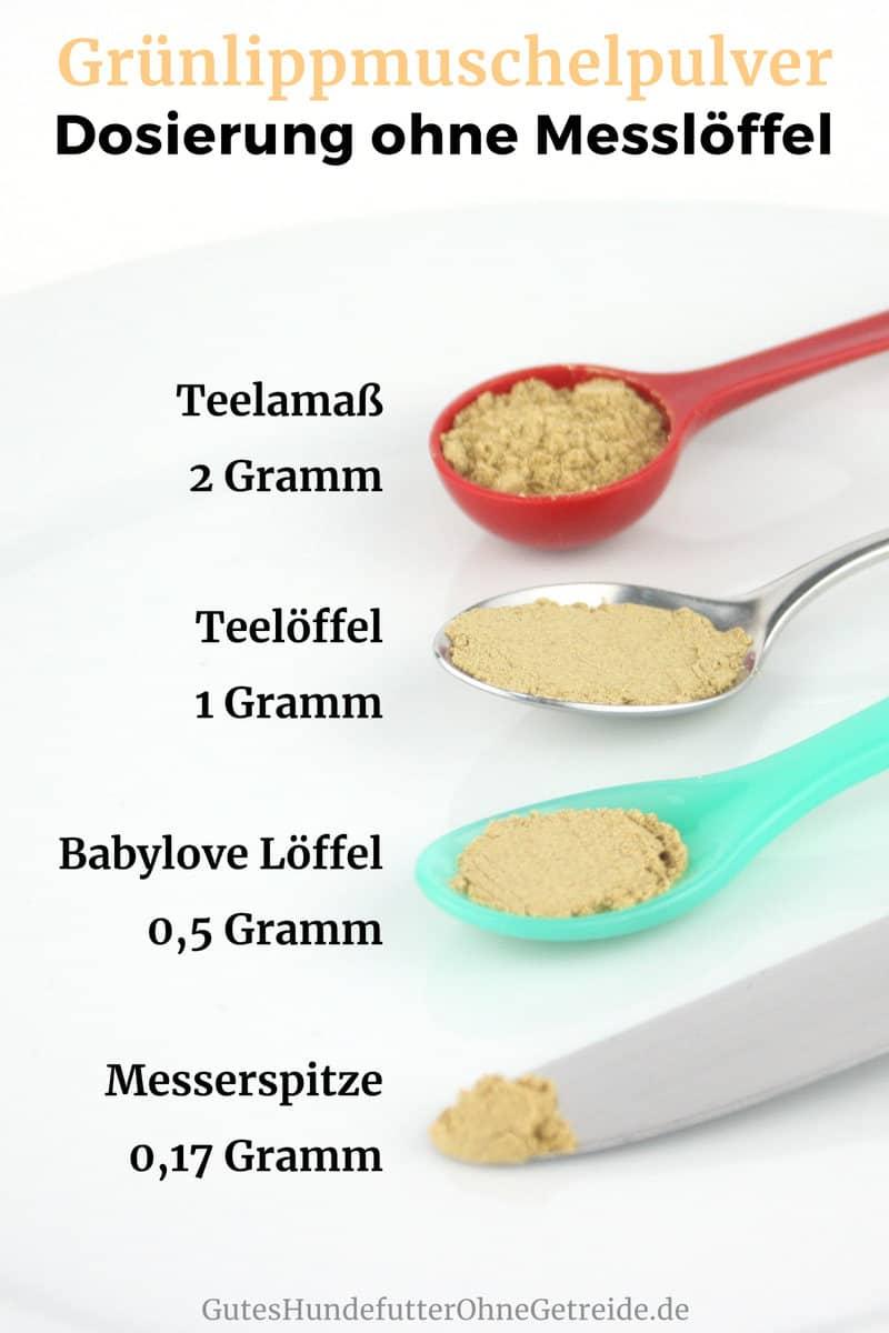 Gestrichener Teelöffel Gramm