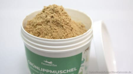 Dose Grünlippmuschel-Pulver von Freudentier, 100 Gramm