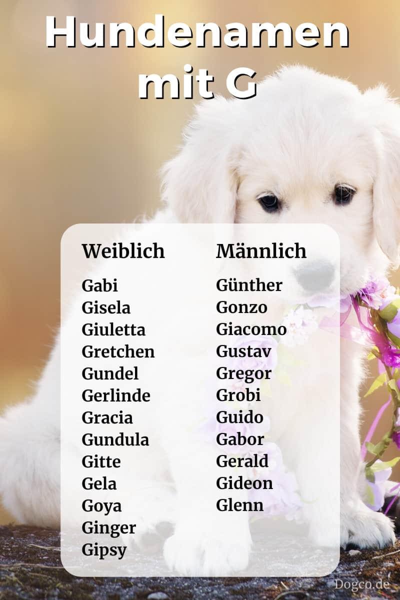 Weibliche Namen Mit G