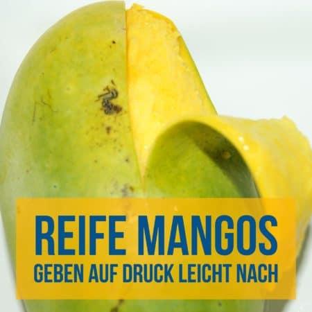 Reife Mango erkennen, als Abwechslung beim Hundefutter