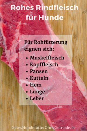 Rohes Rindfleisch für Hunde