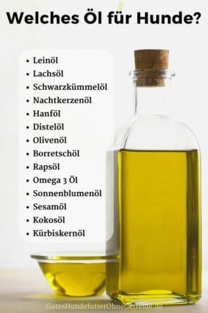 Welches Öl für Hunde?